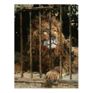 Postal Daniel Hernández Morillo: En la jaula del león