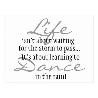 Postal Danza en el imán de la lluvia