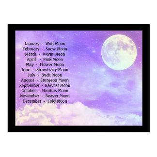 Postal de 12 Luna Llena