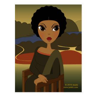 Postal de Afro'na Lisa