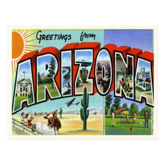 Postal de Arizona del vintage