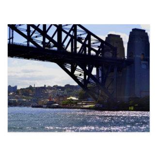 Postal de Australia del puente de puerto de Luna P