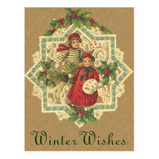 Postal de Belces de navidad del Victorian