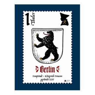 Postal de Berlín Briefmarke por el diseño de