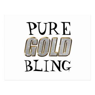 Postal de Bling el   del oro