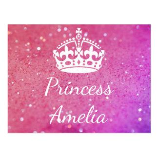 Postal de Bokeh del rosa de la princesa (su
