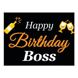 Postal de Boss del feliz cumpleaños