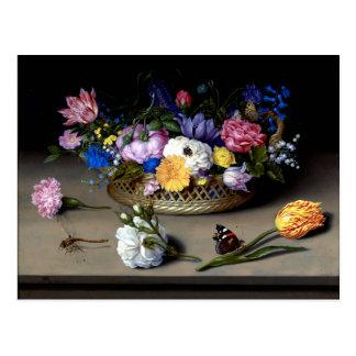 Postal De Bosschaert todavía de la flor arte del holandés