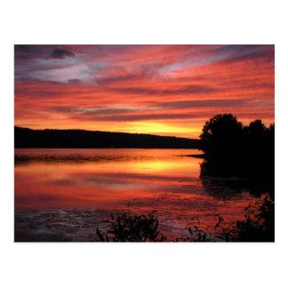 Postal de Bridgewater Nueva Escocia de la puesta