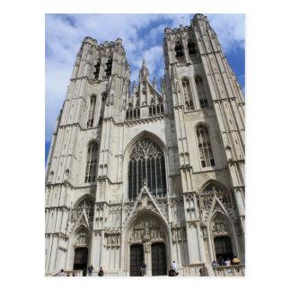 Postal de Bruselas Bélgica de la iglesia del St