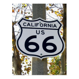 Postal de California 66