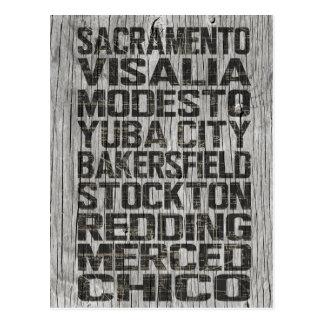 Postal de California Central Valley