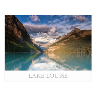 Postal de Canadá - de Lake Louise con el texto
