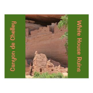 Postal de Canyon de Chelly de las ruinas de la