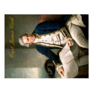 Postal de capitán James Cook, descubridor de