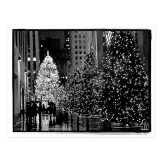 Postal de centro del árbol de navidad de