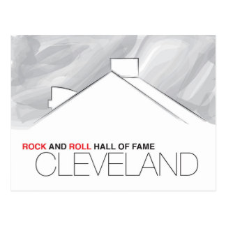 Postal de Cleveland del salón de la fama del