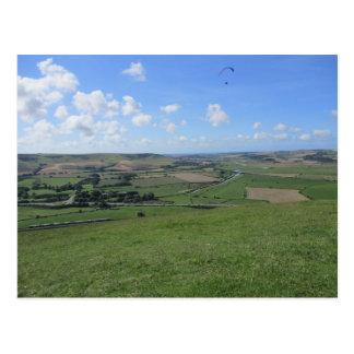 Postal de colinas en los plumones del sur (Lewes)