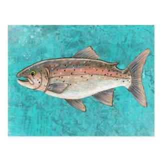 Postal de color salmón del bosquejo
