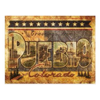 Postal de Colorado de la apariencia vintage