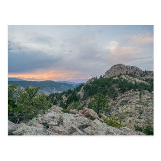 Postal de Colorado de la roca de Horsetooth