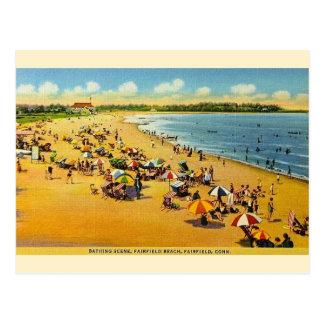 Postal de Connecticut de la playa de Fairfield del