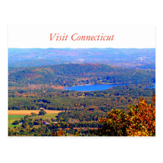 Postal de Connecticut de la visita