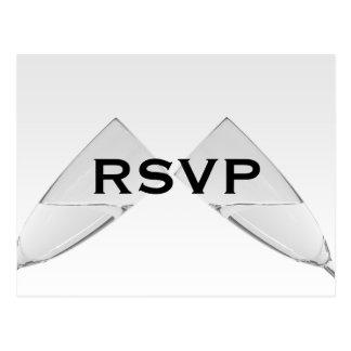 Postal de cristal de Champán RSVP