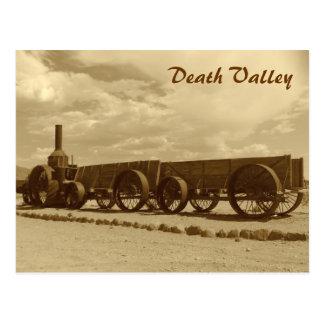 ¡Postal de Death Valley del estilo del vintage! Postal