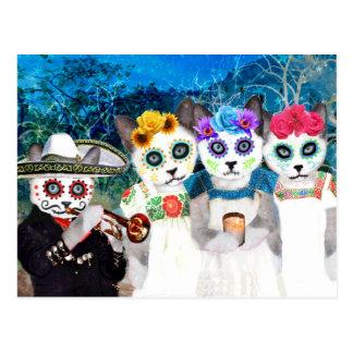 Postal de Dia De Los Muertos Kittens