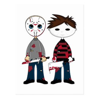 Postal de dos asesinos en serie