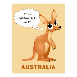 Postal de encargo del texto del canguro lindo
