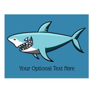 Postal de encargo del texto del tiburón fresco