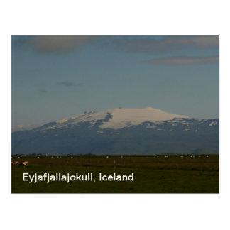 Postal de Eyjafjallajokull Islandia