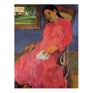 "Postal de ""Faaturuma (melancolía)"" - Paul Gauguin"