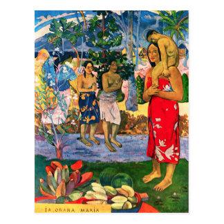 Postal de Gauguin Ia Orana Maria