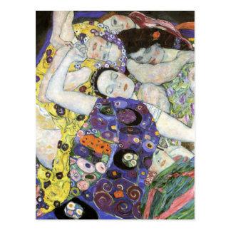 Postal ~ de Gustavo Klimt la Virgen