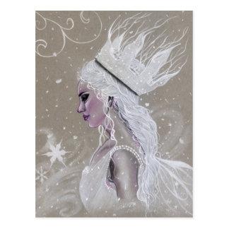 Postal de hadas de la reina del invierno