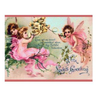 Postal de hadas de la tarjeta del día de San