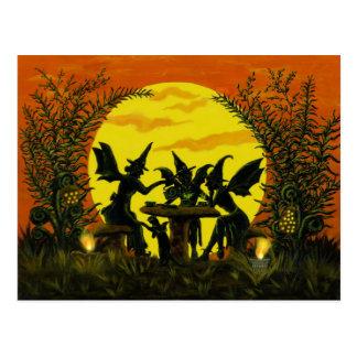 Postal de hadas de las brujas de Halloween