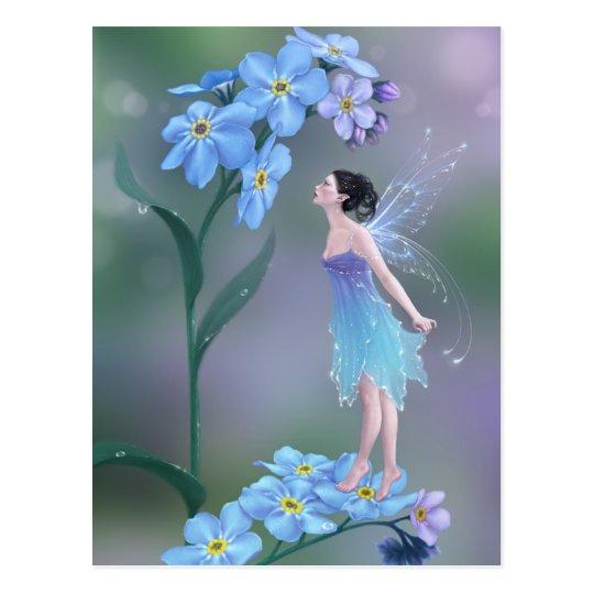 Postal de hadas del arte de la flor de la