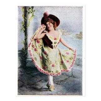 Postal de hadas del bailarín del Victorian
