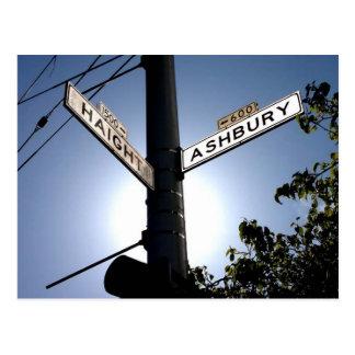 Postal de Haight y de Ashbury