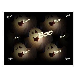 Postal de Halloween del abucheo del fantasma