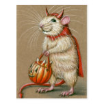 Postal de Halloween del diablo de la rata