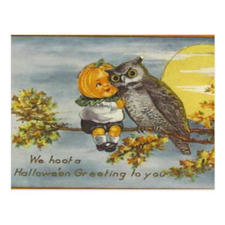 Postal de Halloween del vintage del KRW