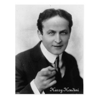 Postal de Harry Houdini