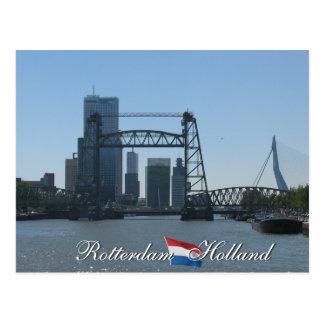 Postal de Holanda del horizonte de Rotterdam