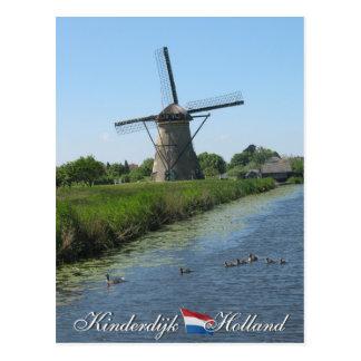 Postal de Holanda del molino de viento de