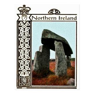 Postal de Irlanda del Norte del vintage